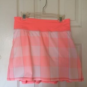Lulu Lemon Bleached Coral Pace Setter Skirt (Tall)